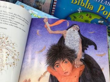 Ilustración del sacrificio de Isaac, pasaje de la Biblia