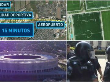 Instalaciones deportivas de Krasnodar, donde se alojará España