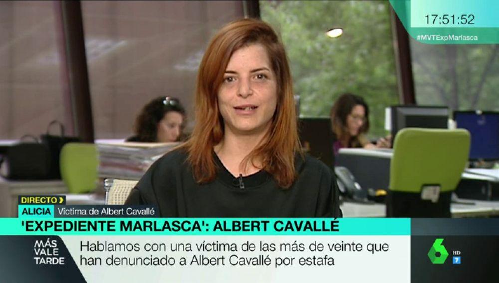 Alicia, una de las más de 20 víctimas de Albert Cavallé
