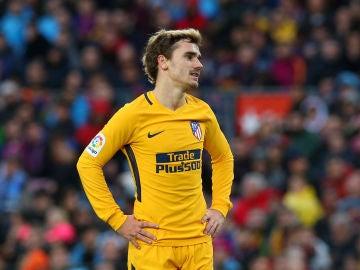 Griezmann, en un partido ante el Barcelona