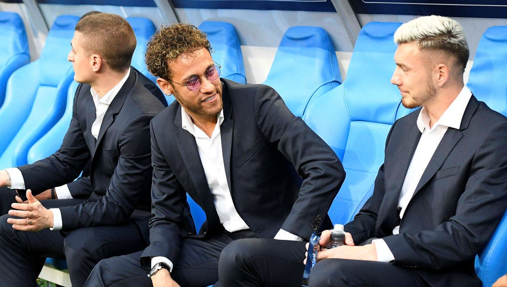 Neymar, en el Stade de France