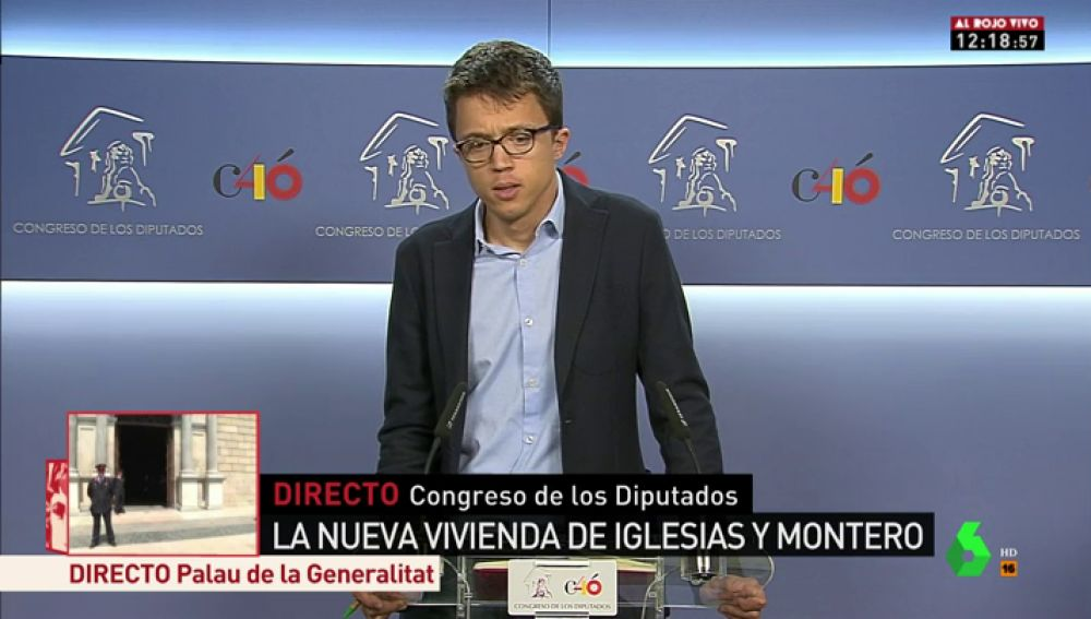 Íñigo Errejón en rueda de prensa