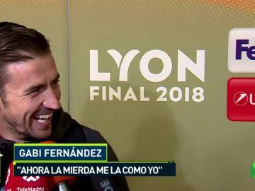 """La rectificiación de Gabi tras ganar la Europa League: """"Ahora la mierda me la como yo"""""""