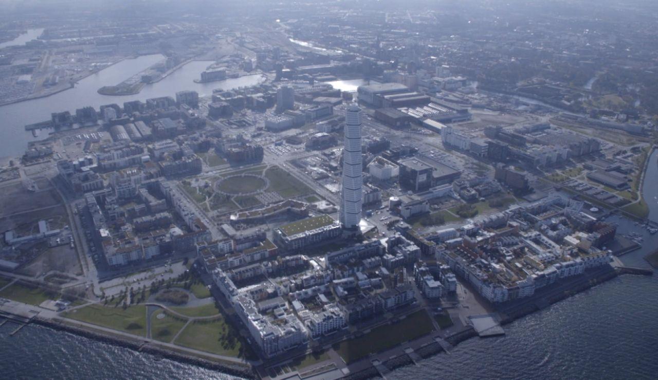 Imagen aérea de Malmö, la ciudad del futuro