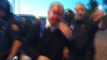Protesta de funcionarios de prisiones en Sevilla