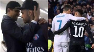 La fría relación de Neymar con Al-Khelaifi
