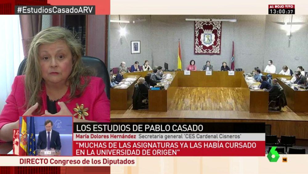 María Dolores Hernández, secretaria general del centro Cardenal Cisneros