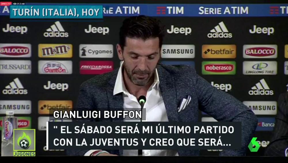 """Buffon: """"El del sábado será mi último partido con la Juventus"""""""