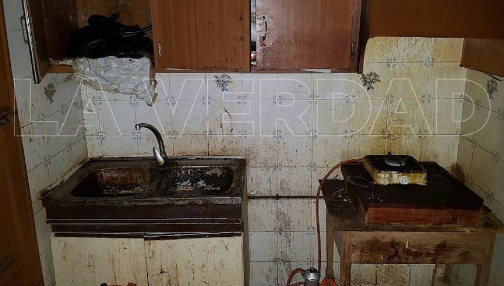 La condiciones insalubres que presentaba el interior de la casa