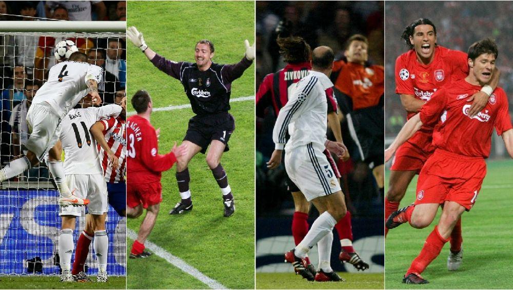 Los héroes de Real Madrid y Liverpool en las finales de Champions
