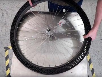 La impresión en 3D no tiene límites: crean una rueda sin aire para bicicletas