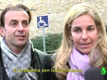 Josep Santacana en el funeral del padre de Arantxa