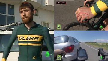 Albert Masana, el ciclista que casi es arrollado por un coche en Lleida