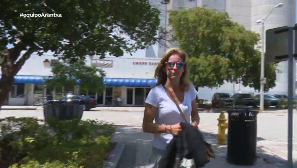 Arantxa Sánchez Vicario en Miami acudiendo a una de las vistas del proceso