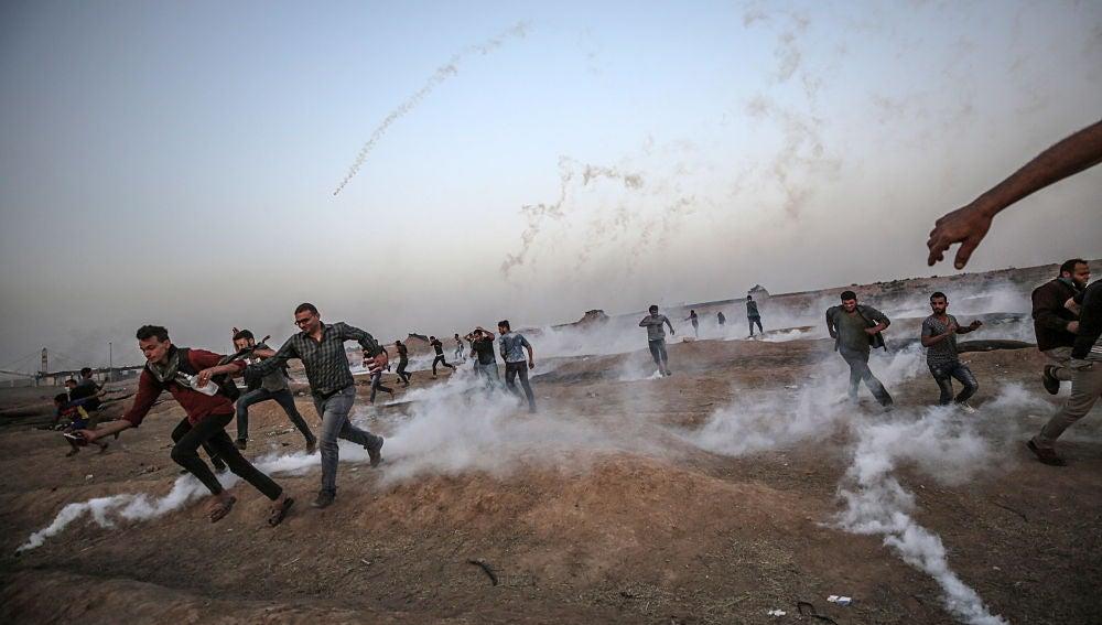 Disturbios en Gaza