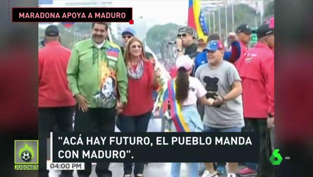 """Críticas a Maradona tras su bailecito para Maduro en Venezuela: """"Hay que hacerle el antidoping"""""""