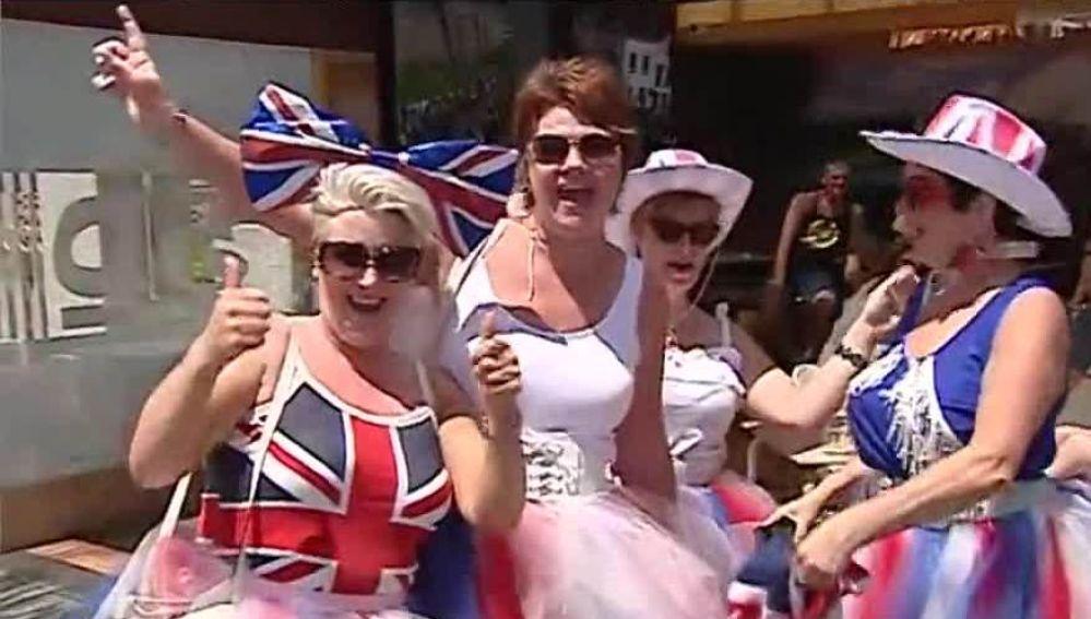 Turistas británicas en Benidorm
