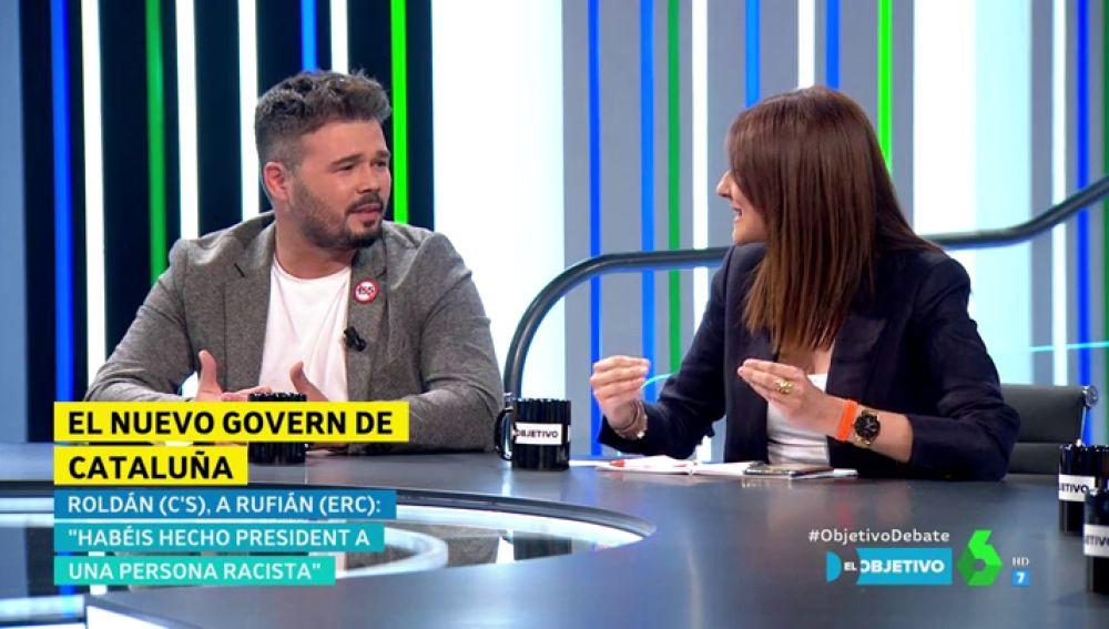 Lorena Roldán y Gabriel Rufián