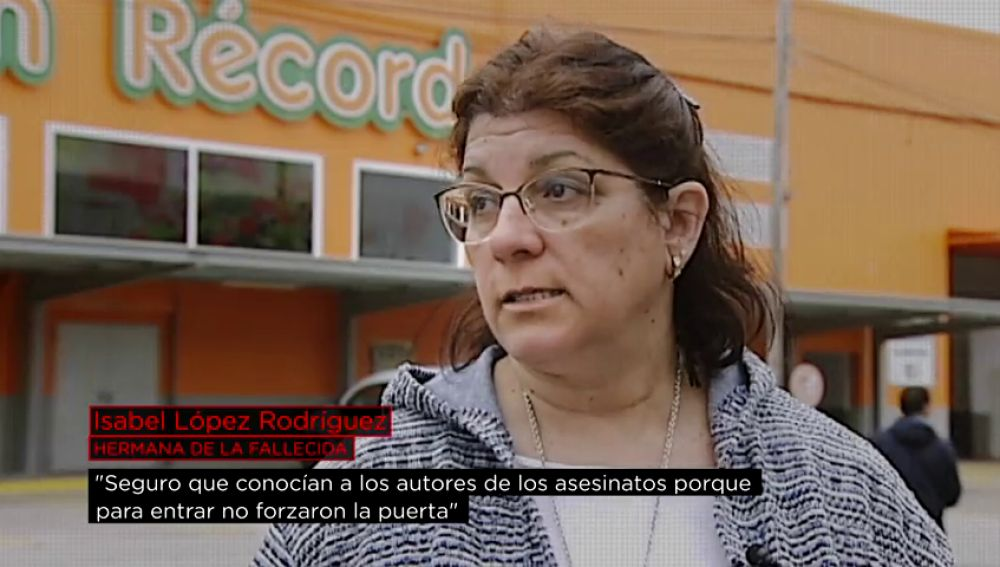 Isabel López, hermana de la fallecida en el 'Cash Récord'