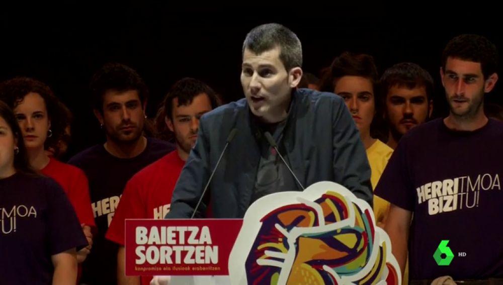 """Sortu presenta su nuevo proyecto político homenajeando a etarras muertos y presos: """"No vamos a permitir que se trate de imponer un relato de buenos y malos"""""""