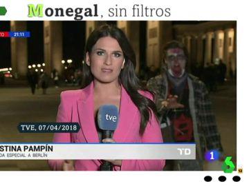 Un 'zombi' irrumpe en un directo de Cristina Pampín