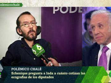 Pablo Echenique y Eduardo Inda