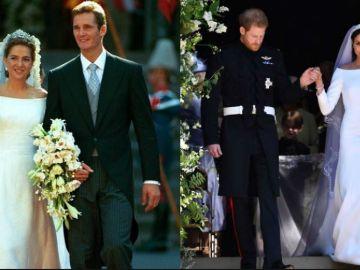 La increíble similitud entre el vestido de novia de Meghan Markle y el de la infanta Cristina