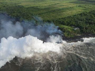 La lava del Kilauea llega al Pacífico