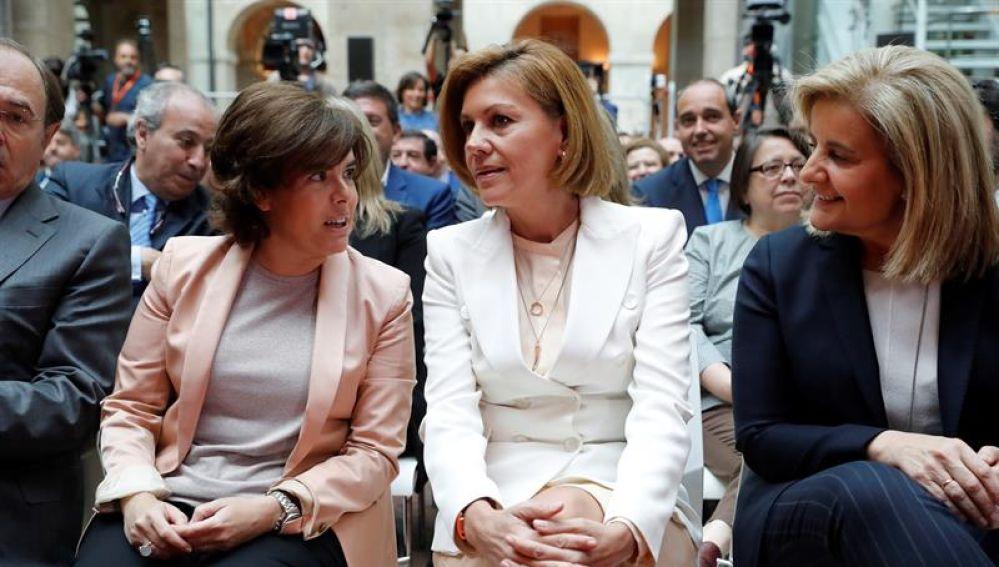 Sáenz de Santamaría, Cospedal y Báñez