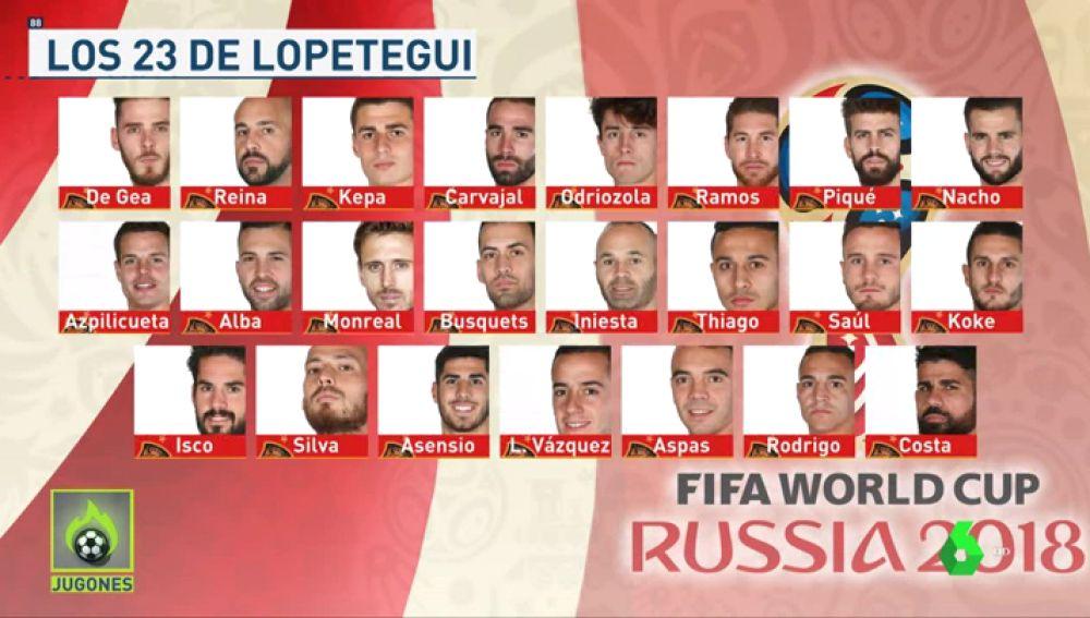 La lista de 23 jugadores de Lopetegui para el Mundial de Rusia