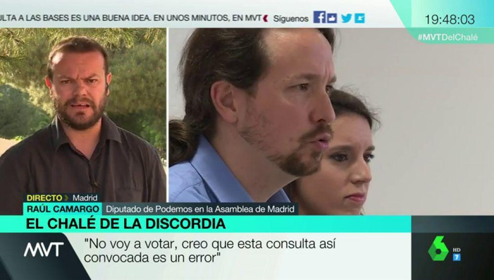 Raúl Camargo, Podemos