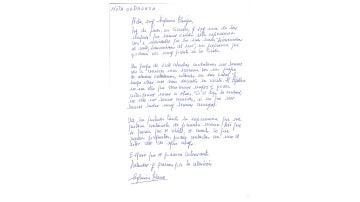 Carta de Eugenia Parejo