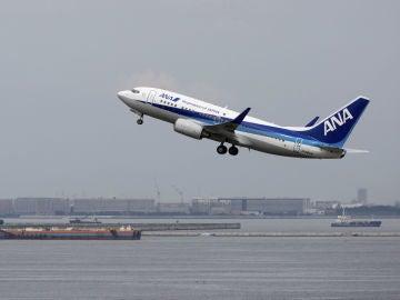 Avión de la aerolínea nipona All Nippon Airways (ANA)