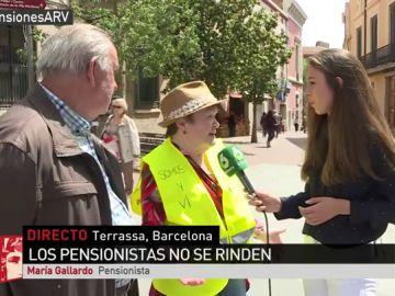 María Gallardo, pensionista