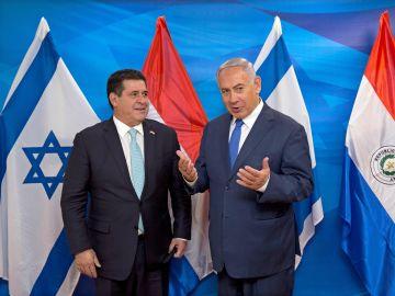 El primer ministro israelí, Netanyahu, recibe al presidente de Paraguay, Cartes, en Jerusalén
