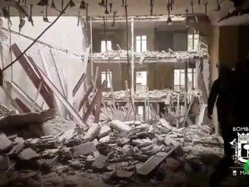 Las tareas de desescombro del edificio de Madrid donde han desaparecido dos obreros pueden durar entre dos y tres días