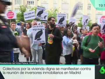 Protesta contra los fondos buitre en Madrid