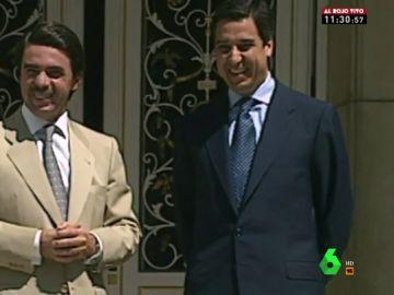 Eduardo Zaplana en una imagen de archivo con Aznar