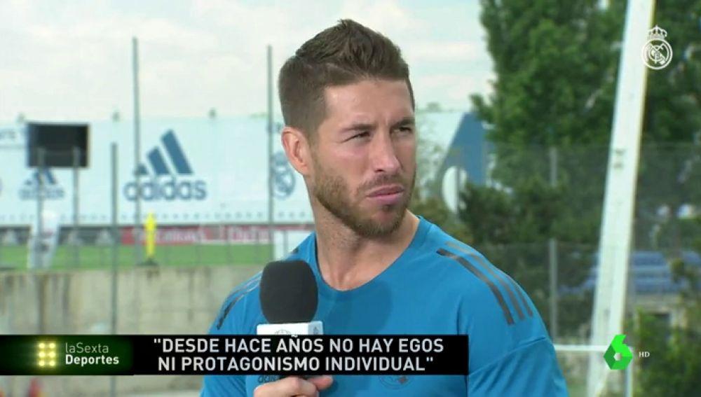 """Sergio Ramos: """"Antes había un vestuario dividido, ahora no hay egos y todos remamos en la misma dirección"""""""