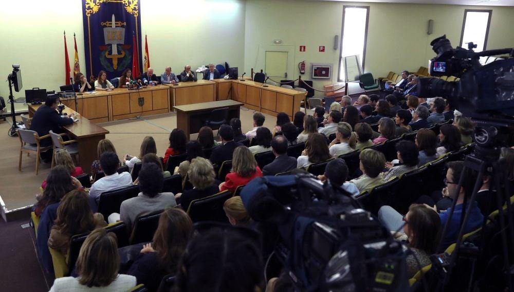 Rueda de prensa de la huelga general de jueces y fiscales