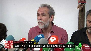 """El actor Willy Toledo vuelve a plantar al juez: """"No he cometido ningún delito"""""""