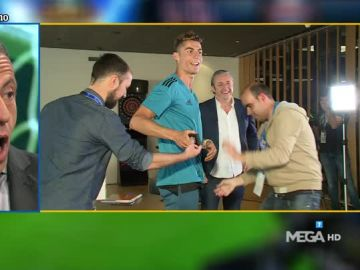 Cristiano Ronaldo durante su entrevista con Pedrerol