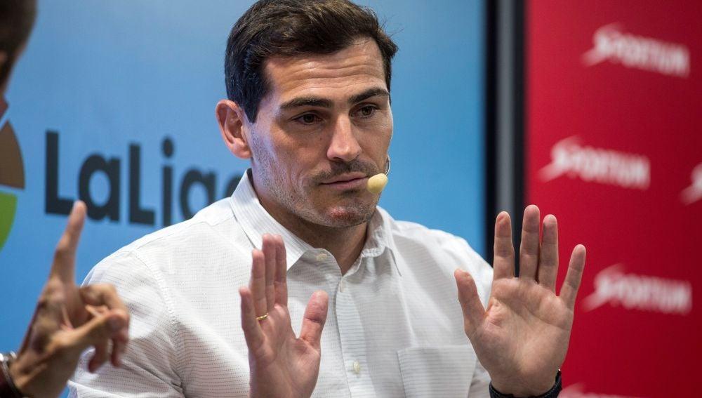 Iker Casillas, en un acto