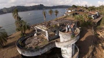 Una de los casoplones abandonados de Pablo Escobar