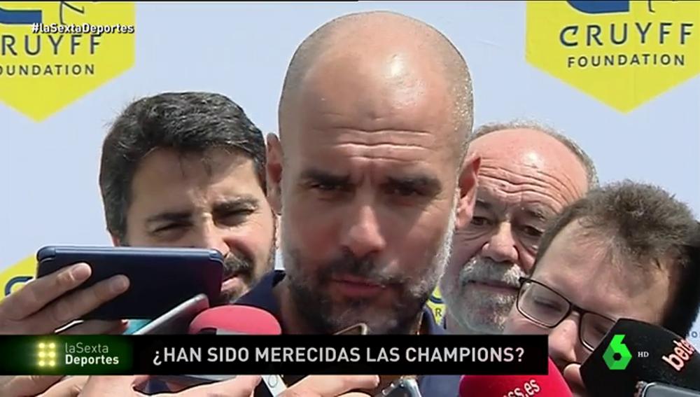 """Guardiola: """"¿El Real Madrid? Hay que quitarse el sombrero con lo que ha hecho"""""""