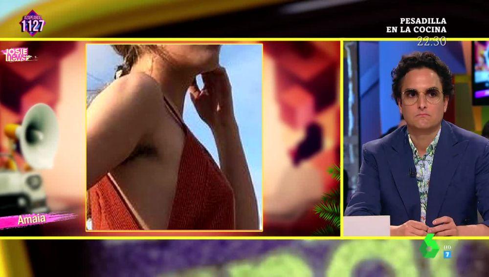 Esto es lo que opina Josie de la foto de Amaia con las axilas sin depilar