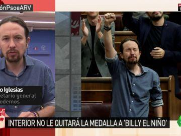 """Iglesias, sobre Billy el NIño: """"El PP está protegiendo a un torturador franquista. Ese malnacido torturó a luchadores por la democracia"""""""
