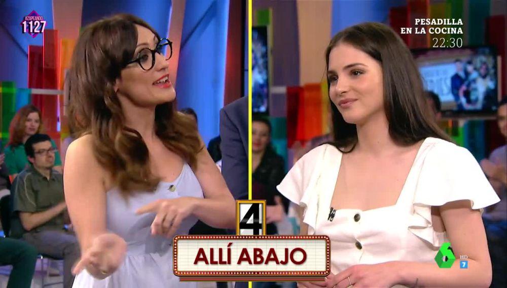 Juego de Tronos, Física o Química... Andrea Duro arrasa en el juego 'Series en cinco segundos' junto a Ana Morgade