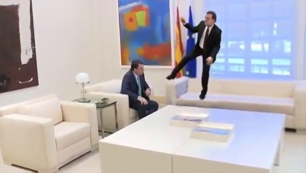 #VídeoManipulado | El Aurresku de Mariano Rajoy a Aitor Esteban en La Moncloa