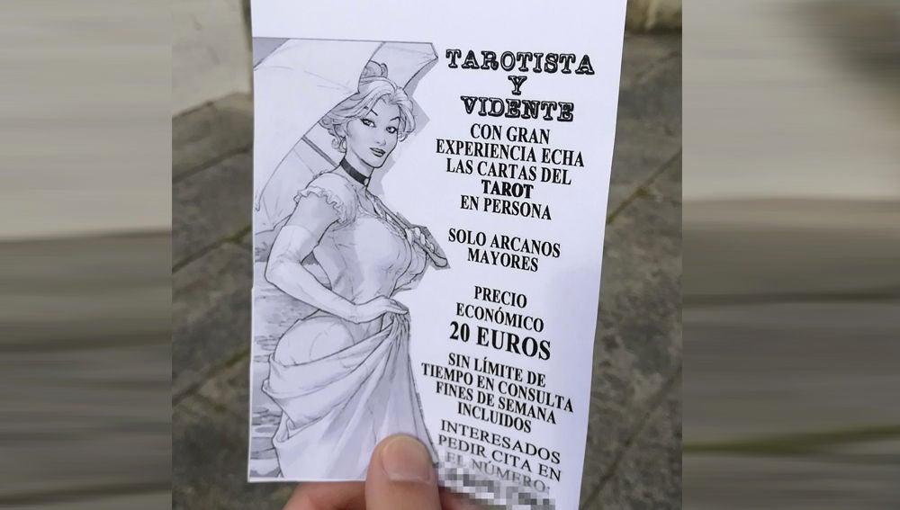 Imagen de un folleto publicitario que supuestamente repartía la una juez de Lugo,